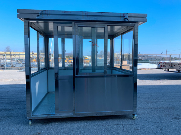304 Stainless Steel Guard Shack Booths 8ft x 6.5ft