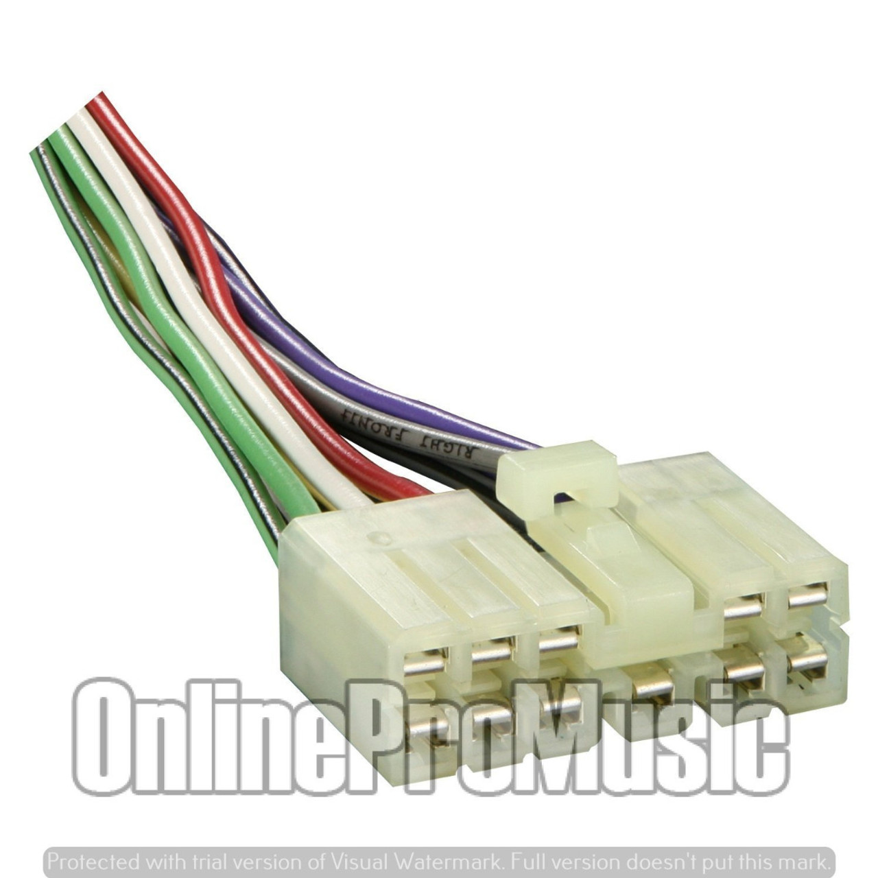 Absolute A1098-1736 Wiring Harness for 1986-1991 Hyundai and Mitsubishi Vehicles