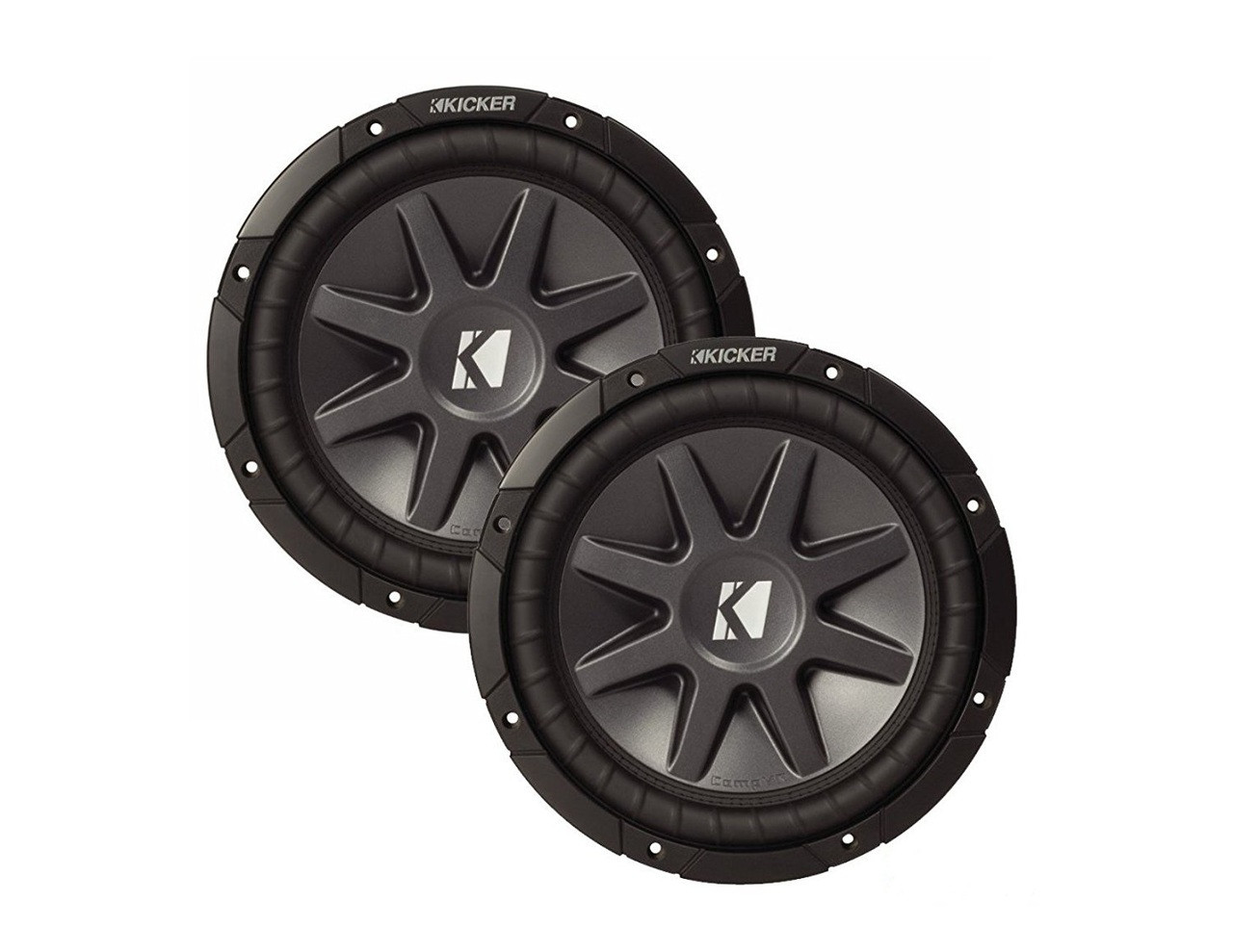 "2 x BRAND NEW KICKER COMPVR 10CVR124 12"" DUAL 4-OHM CAR AUDIO SUBWOOFER 1600 WATTS"