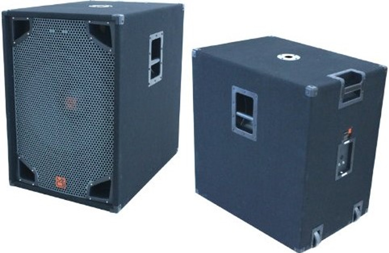 MR DJ COM18SUB SINGLE 18-INCH 3000W MAX POWER PASSIVE PORTABLE SUBWOOFER SYSTEM