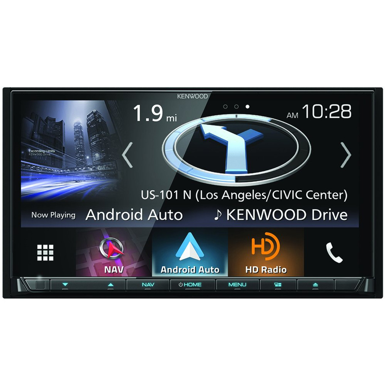 Kenwood DNX874S Apple CarPlay and Android Auto In-Dash Navigation Receiver