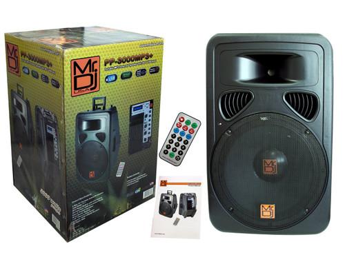 "MR DJ 15"" Portable 2500 Watts MP3 Powered Speaker with Sd/USB Input"