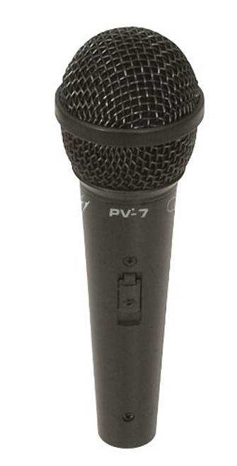 "Peavey PV7 Handheld High Sensitivity Dynamic Cardioid Microphone, With 1/4"" Cable Included"