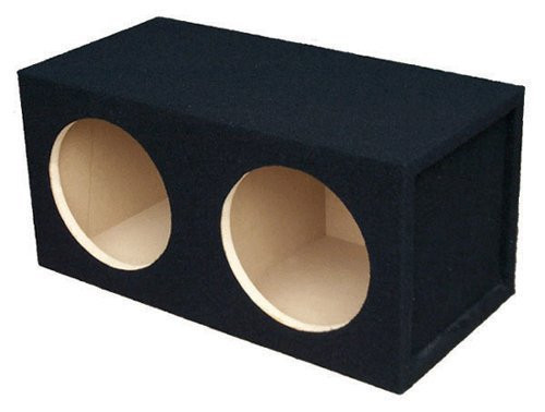 Absolute USA DSS10 Dual 10-Inch, 3/4-Inch MDF Sealed Subwoofer Enclosure with Absolute USA Logo
