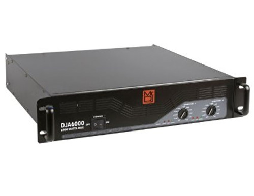 MR.DJ DJA-6000 PROFESSIONAL STEREO 6000W MAX POWER PRO AUDIO 2-CHANNEL BRIDGEABLE AMPLIFIER
