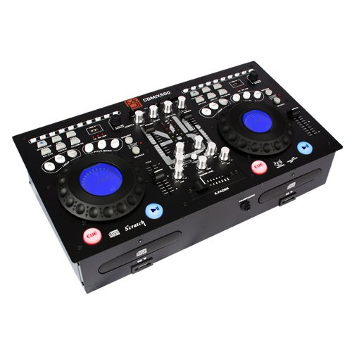 MR DJ CDMIX CDMIX500 PROFESSIONAL DUAL CD PLAYER WITH MIXER