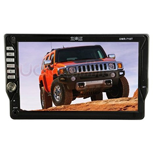 "Absolute Dmr-710t Single DIN 7"" Dvd, Mp3, Cd Touchscreen Monitor with USB and AUX Input"