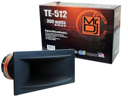 "MR DJ TE-512 5""x12"" 300W PRO AUDIO PA/DJ WIDE SCREW-ON TYPE PIEZO HORN TWEETER"