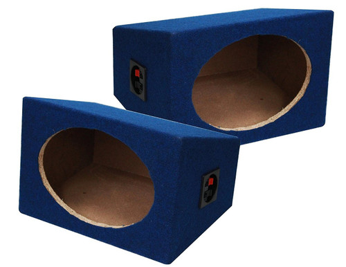 Absolute USA 6X9PKBL 6 x 9 Inches Pair Speaker Box with Speaker Terminal (Blue)