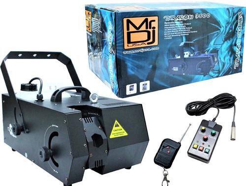 MR DJ DRAGON-3500 3500-Watts Max High Output Fog Machine with Adjustable Head Angle
