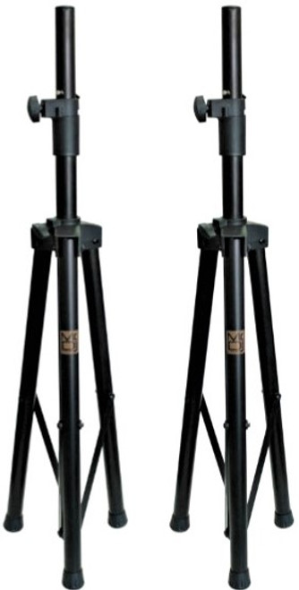 2 MR DJ SS350B Heavy Duty Folding Tripod PRO PA/DJ Speaker Stand