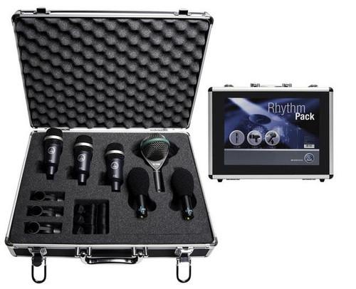 AKG Rhythm Pack 6 Piece Drum Microphone Package Studio Recording Kit