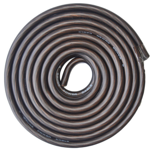 Absolute USA CW4-25BK 4 Gauge Black Amplifier Amp Power/Ground Wire 25 Feet SuperFlex Cable 25'