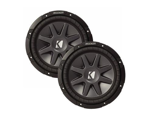 "2 x BRAND NEW KICKER COMPVR 10CVR124 12"" DUAL 4-OHM CAR AUDIO SUBWOOFER 1600 WATTS"