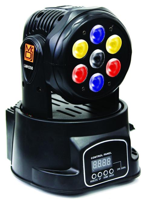 MR DJ LMH250 100W RGBW 7-LED WASH MOVING HEAD LIGHT DMX STAGE LIGHT DJ PARTY LIGHTS