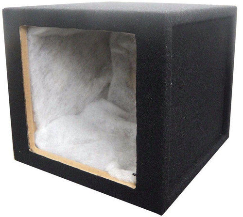 Absolute KSB12S 12-Inch Single Square Hole Subwoofer Enclosure for use with Kicker Solo-Baric Subwoofer