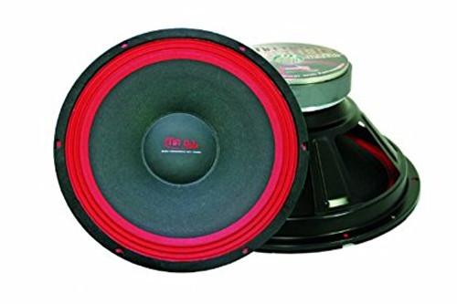 Mr. Dj WOOFER PA110 400-Watt Subwoofer, Black/Red