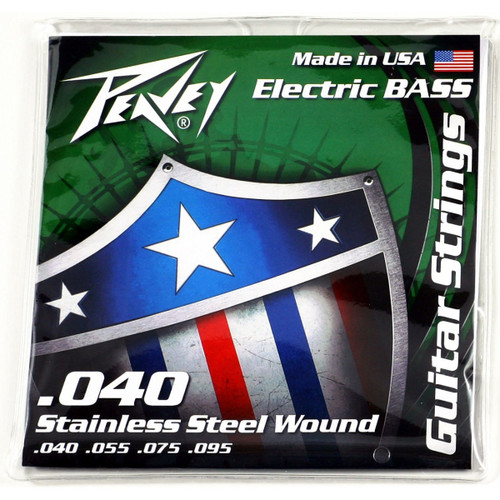 Peavey Balanced Bass Guitar Strings 40s Stainless Steel Elements