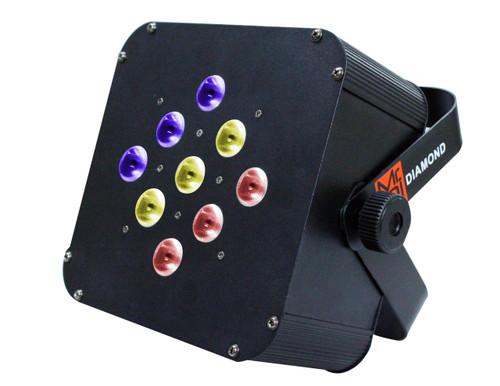 MR DJ DIAMOND PRO 30W RGB FLAT LED PAR64 DMX LED COLOR CHANGE DJ STAGE LIGHTING