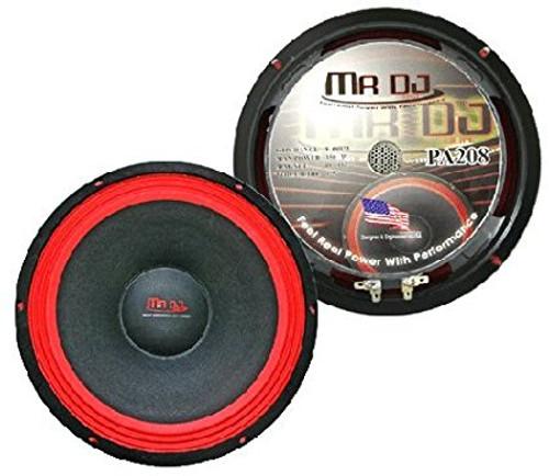 """Mr. Dj PA208 8"""" Professional DJ Woofer"""