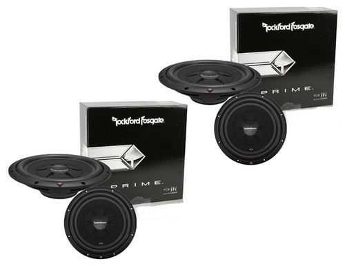 "2 x ROCKFORD FOSGATE R2SD4-12 12"" DUAL 4 OHM CAR SHALLOW MOUNT SUBWOOFERS 250W"