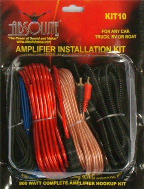 Absolute Kit 10 10 Gauge Amplifier Kit