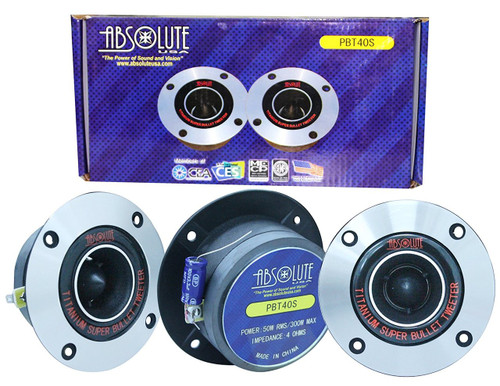 Absolute USA PBT40S 4-Inch Titanium Bullet High Compression Tweeter