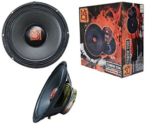 Mr. Dj COMDW-2500 1200-Watts Max P.M.P.O 12-Inch 650 Peak Momentary Power Dual Magnet Woofer