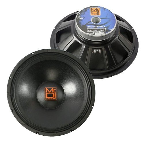 "MR DJ PRODW-2000 15"" 2000W Max, 8 ohms Pro PA/DJ Universal Raw Replacement Speaker Subwoofer"