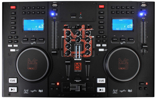 MR DJ CDMIX CDMIX1000BT PROFESSIONAL DUAL CD PLAYER WITH MIXER, BLUETOOTH, USB