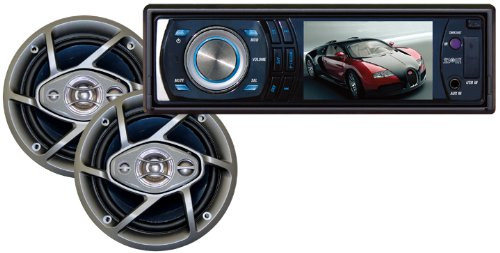 ABSOLUTE DMR-390TPKG 3.5-INCH IN DASH TFT/LCD MULTIMEDIA PLAYER WITH 6.5-INCH SPEAKER PACKAGE