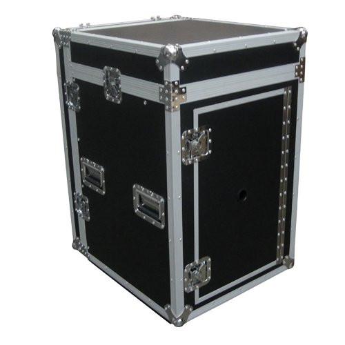 MR DJ CASE5000 ATA 16 Space 10 Slanted Top 16U 10U Mixer Amp Dj CD Combo Rack Flight Case With Laptop Shelf