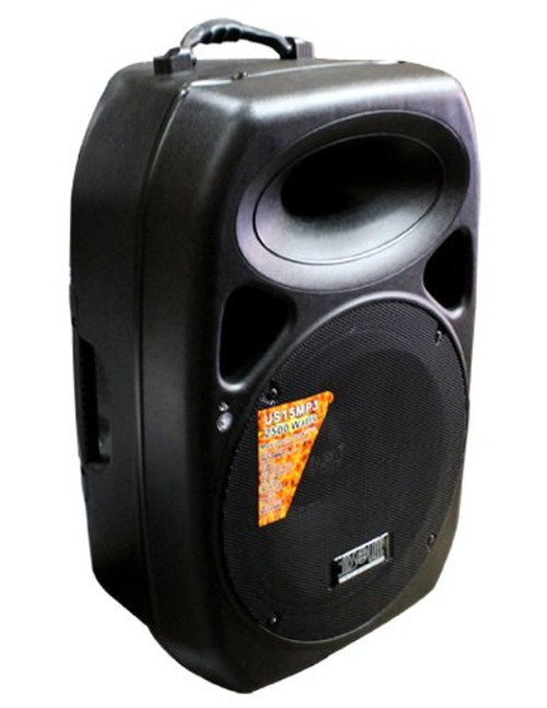 ABSOLUTE USA PRO US15MP3 PORTABLE 15-INCH Amplified Speaker with MP3/SD/USB Player Built-In LCD Display and Remote Control