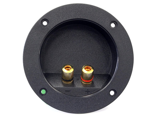 Absolute USA RST-400 4-Inch Round Gold Twist Banana Jacks Double Binding Post Speaker Box Terminal Cup