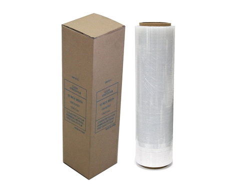 "Absolute USA Single Original Roll Clear Plastic Film Pallet Shrink Wrap 18"" x 1500 sq. ft. (SW181C)"