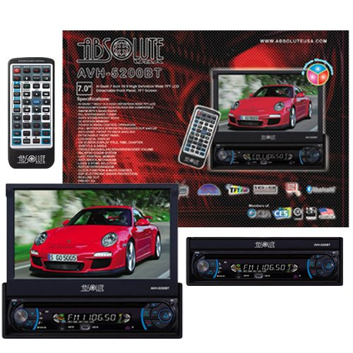 ABSOLUTE AVH-5200BT 7-INCH IN-DASH TOUCH SCREEN DVD MULTIMEDIA PLAYER WITH DETACHABLE  FRONT PANEL