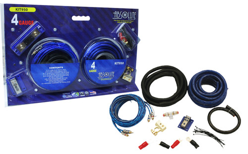 Absolute KIT-950 Complete 3000W 4 Gauge Amplifier Install Kit
