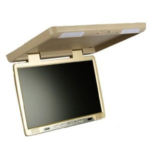 ABSOLUTE PFL181IRC 18-INCH TFT-LCD FLIP-DOWN MONITOR WITH BUILT-IN IR TRANSMITTER (Cream/Tan)