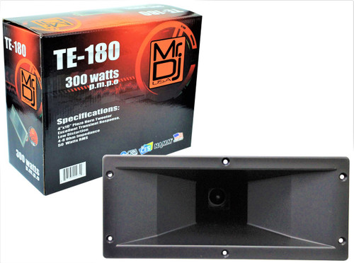 "MR DJ TE-180 4""x10"" 300 Watts P.M.P.O Piezo Horn Tweeter"