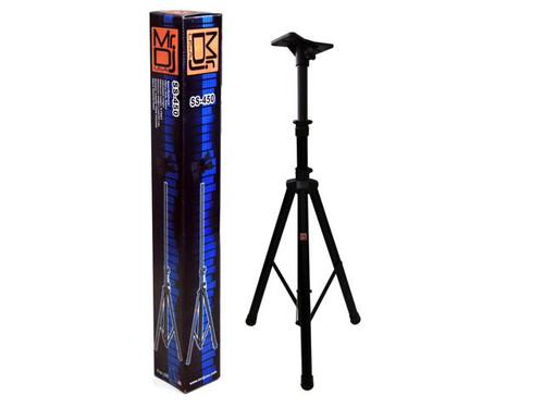 Mr. Dj SS450 Folding Tripod DJ Speaker Stand with Mounting Plate