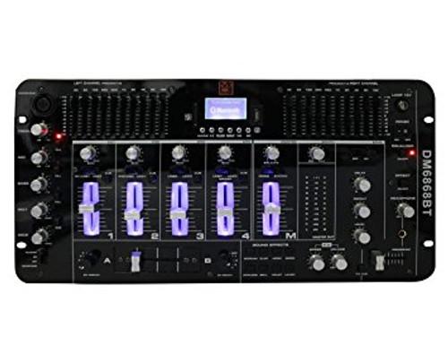 Mr. Dj DM6868BT 6 Channel Dj Mixer with Bluetooth, USB/SD Slot & Audio Effect