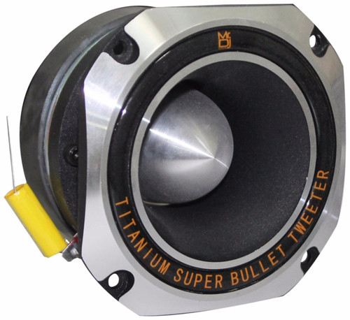 Mr. Dj HDT1000S 4-Inch Titanium Bullet High Compression Tweeter with 11 Ounce Ferrite Magnet (Chrome)
