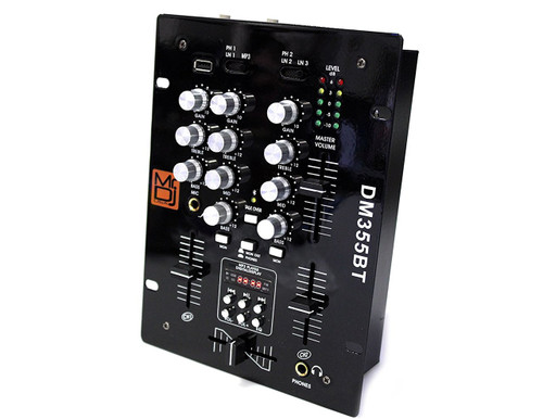Mr. Dj DM355BT 3 Way / 5 Channels Mixer Built-in Bluetooth/USB MP3 Player with Digital Display