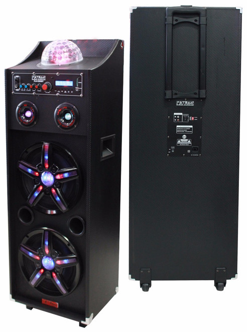 PATRON PRO AUDIO PLS-2200BT Dual 10-Inch Speaker System with FM/SD/USB Reader Built-In Bluetooth