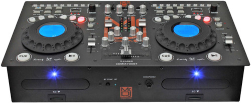 MR DJ CDMIX CDMIX700BT PROFESSIONAL DUAL CD PLAYER WITH MIXER, BLUETOOTH, USB