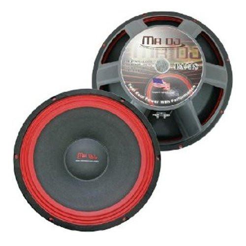 MR.DJ PA218 SUBWOOFER BLACK/RED 750 WATTS 8 Ohms
