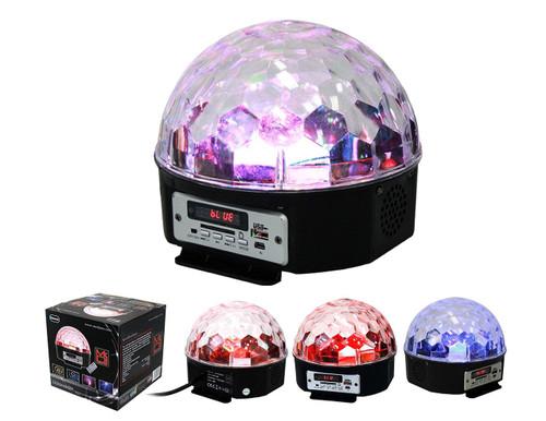 MR.DJ LEDDOMEBT POWER SPEAKER LED DISCO LIGHT EFFECT BUILT-IN SPEAKERS/BLUETOOTH/USB/SD/FM RADIO
