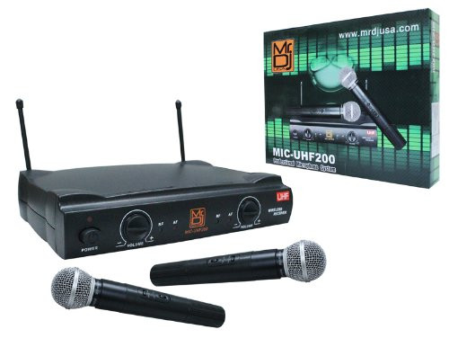 Mr. Dj MIC-UHF200 Wireless Microphone System