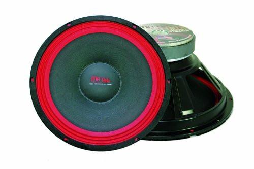 Mr. Dj WOOFER PA112 500-Watt Subwoofer, Black/Red