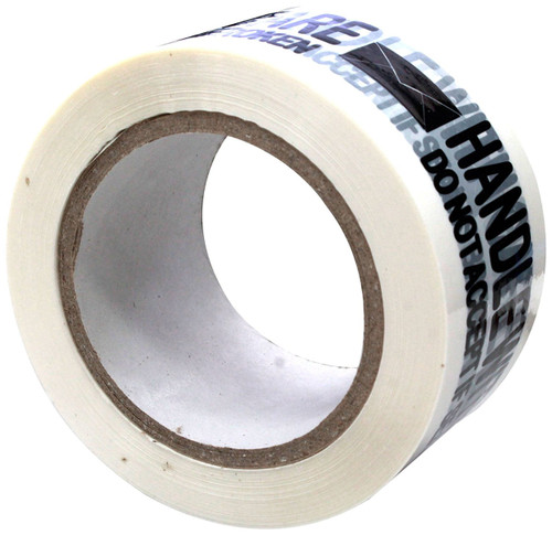 Absolute USA Printed Message Handle with Care Box Sealing Tape (TAPEBLACK)